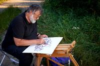 160621__8635 Gottfried Laf Wurm beim malen