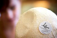 Mühlbauer Hut & Mode, weisser Ht mit Logo