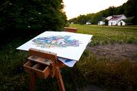 160621__8722 Gottfried Laf Wurm beim malen
